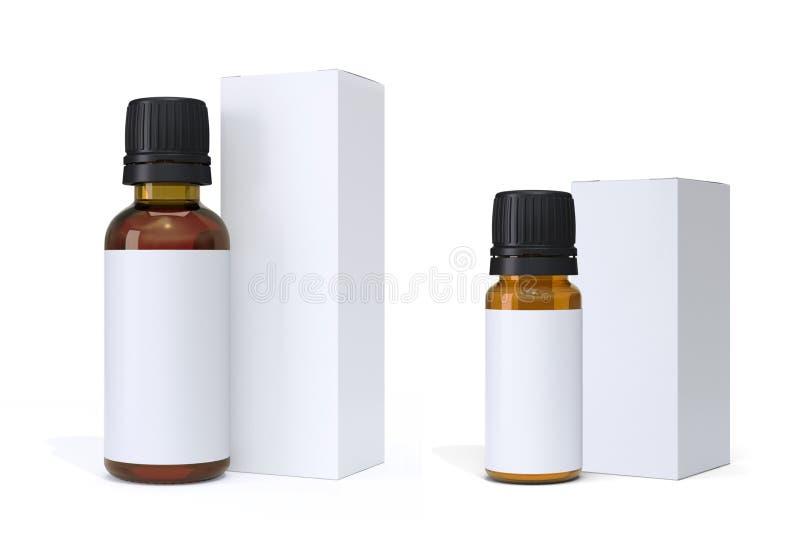 Бутылки и пакеты глумятся вверх стоковые изображения rf