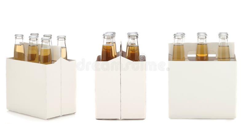 бутылки пива освобождают пакет 6 стоковые фотографии rf