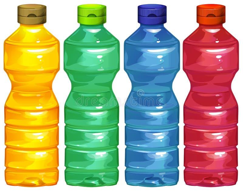 4 бутылки с водой бесплатная иллюстрация