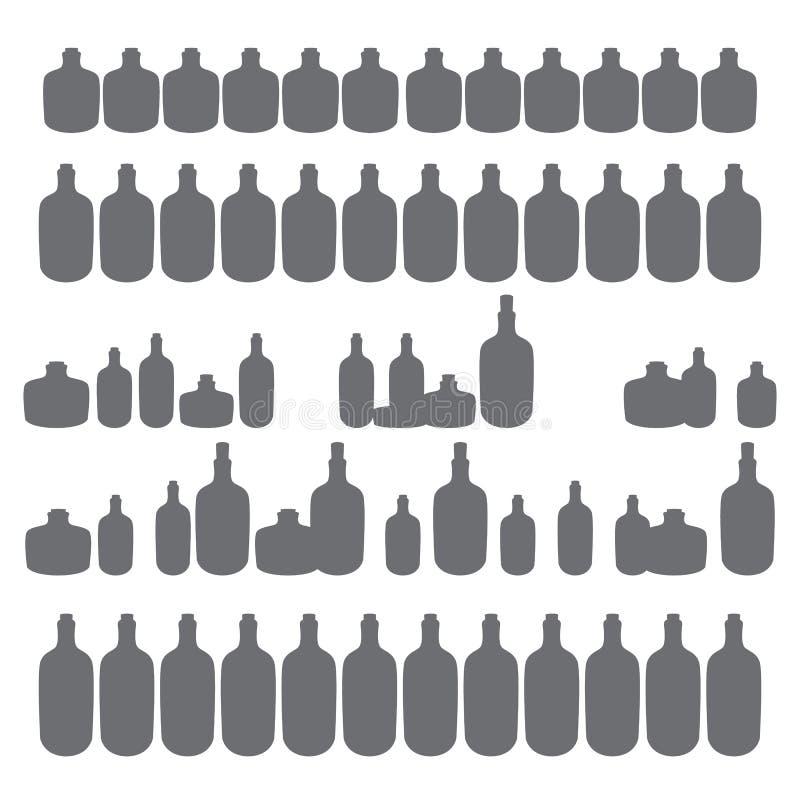 Бутылки формы выпивки простой иллюстрация штока