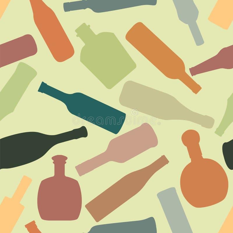 бутылкой Картина красочного вектора безшовная иллюстрация штока
