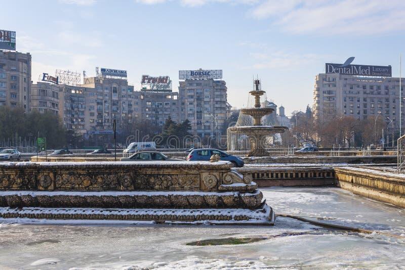 Бухарест в зиме стоковое изображение rf
