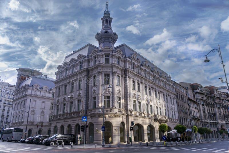 Бухарест Румыния, 26-ое июня 2018 - грандиозная гостиница континентальная стоковое изображение rf