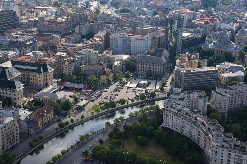 Бухарест, Румыния, 15-ое мая 2016: Вид с воздуха мемориала холокоста в Бухаресте стоковая фотография rf