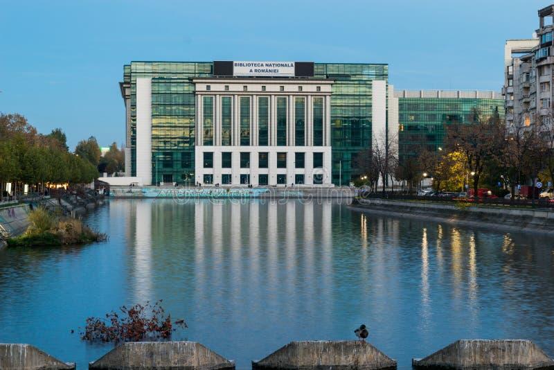 Бухарест, Румыния - 4-ое ноября 2018: Взгляд здания национальной библиотеки Румынии в Бухаресте, Румынии, Европе стоковые фотографии rf
