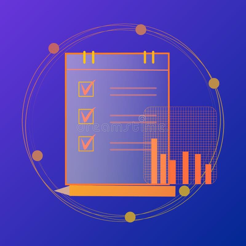 Бухгалтерия, налоги, проверка, вычисление, анализ данных, отчетность иллюстрация вектора