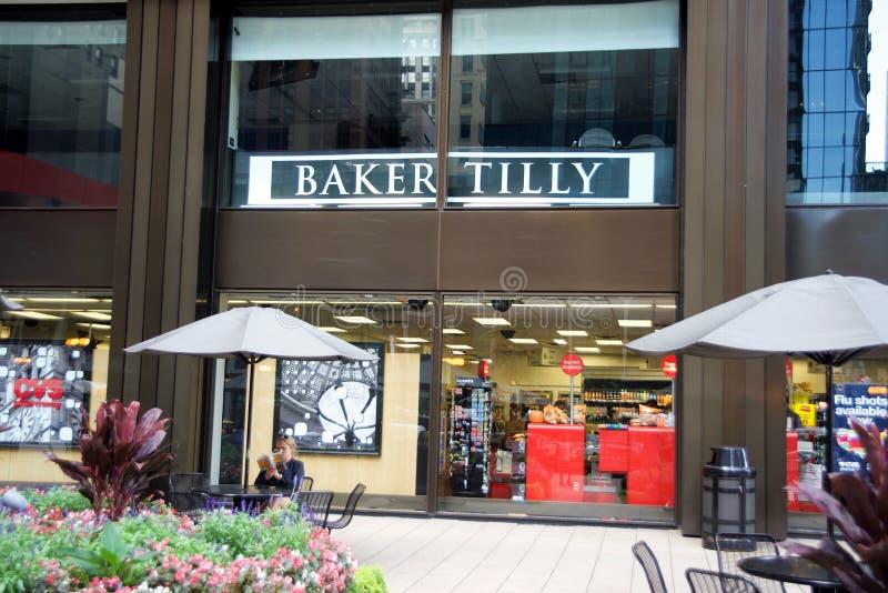 Бухгалтерско-учетная фирма Tilly хлебопека, Чикаго, Иллинойс стоковые изображения