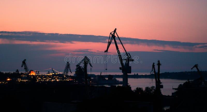 Бухта захода солнца стоковые фотографии rf