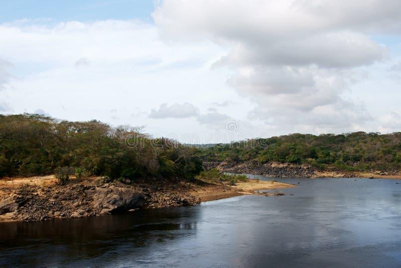 Бухта и пляж реки стоковое изображение