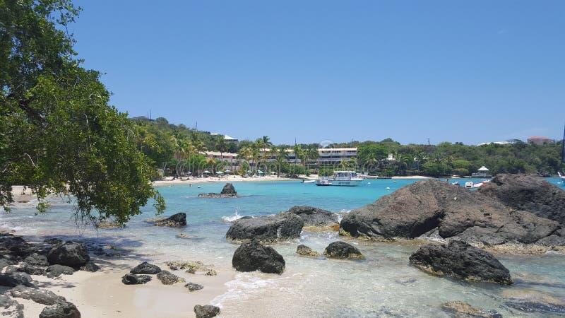 Бухта пляжа в StThomas стоковое изображение