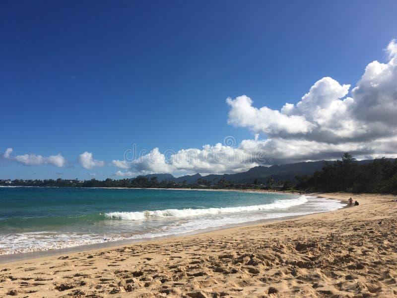 Бухта пляжа Гаваи стоковая фотография rf