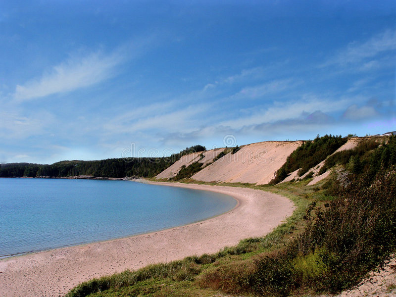 бухточка пляжа песочная