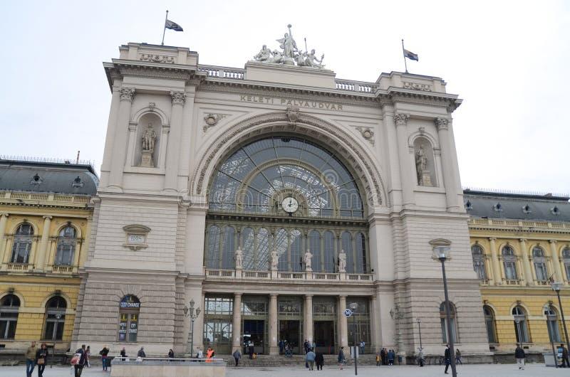 Будапешт, Венгрия Железнодорожный вокзал Keleti стоковые изображения rf