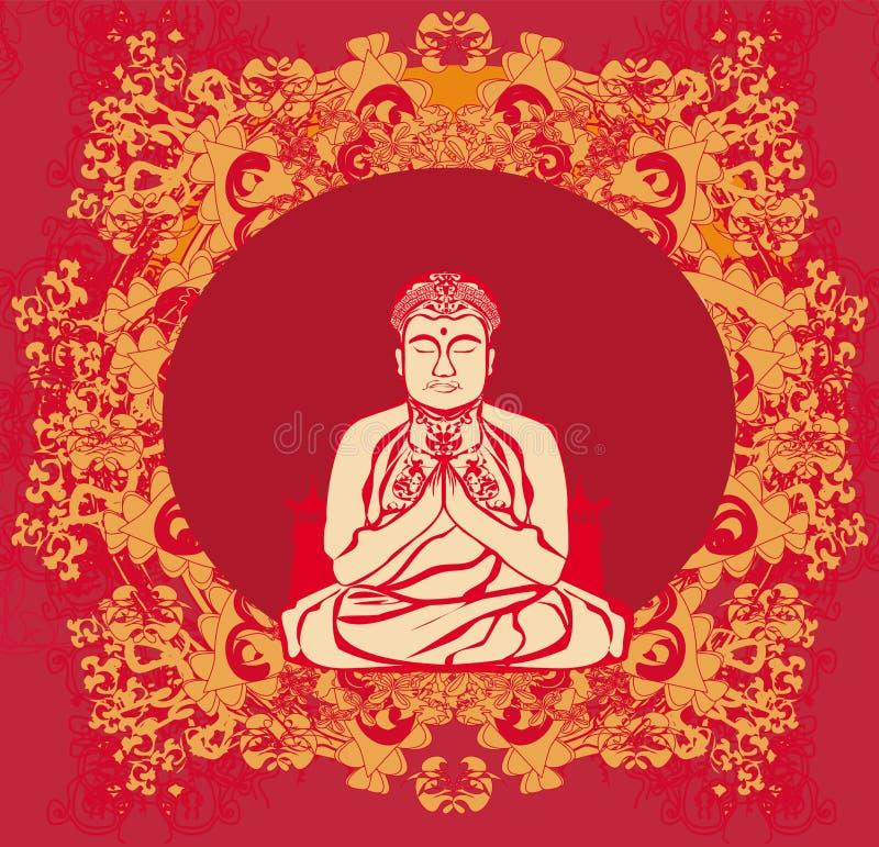 Будда - абстрактная карточка бесплатная иллюстрация