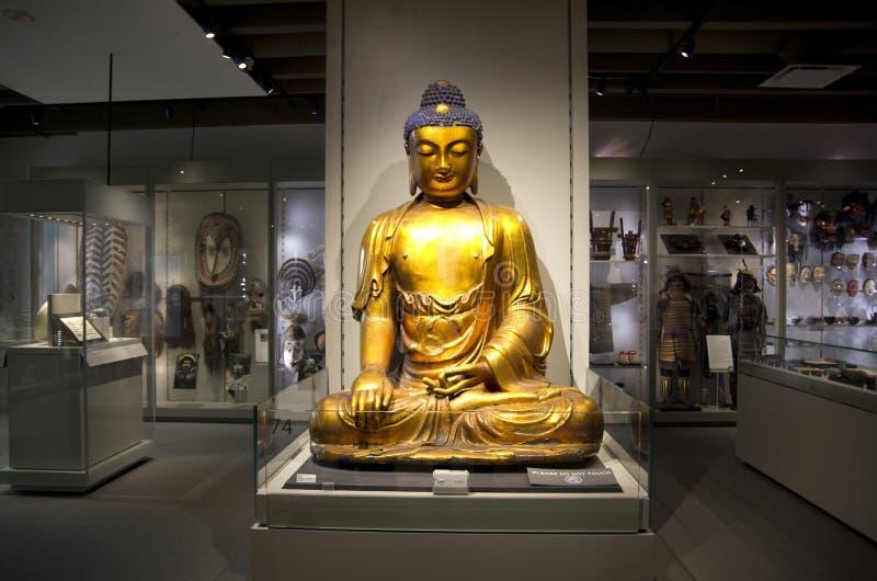 Будда на музее антропологии на UBC стоковые фотографии rf