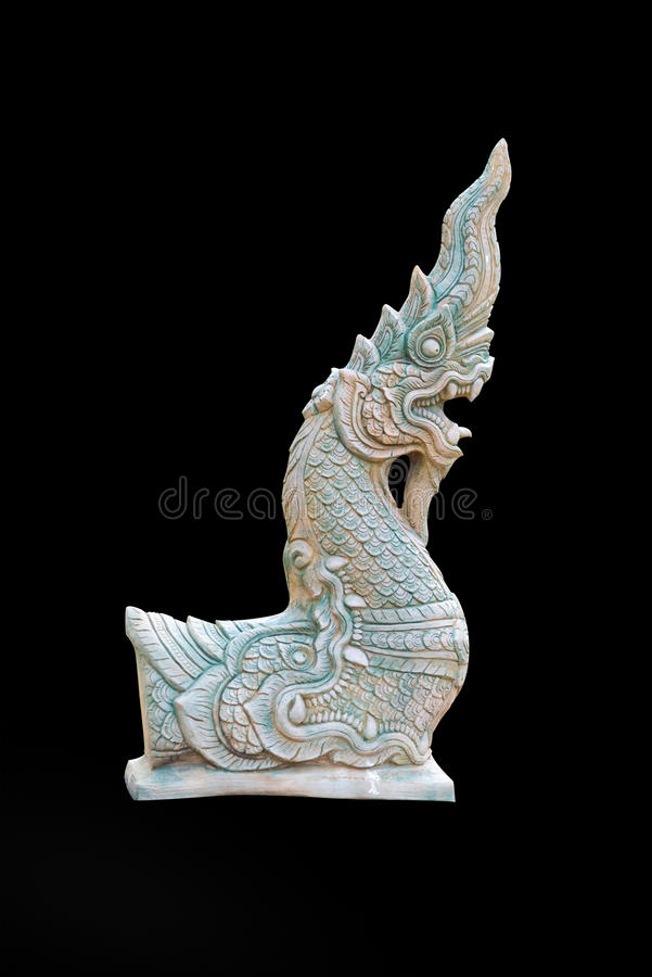 Буддийская скульптура дракона стоковая фотография rf