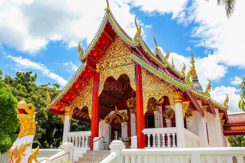 Буддийский висок в Chiang Mai стоковое фото