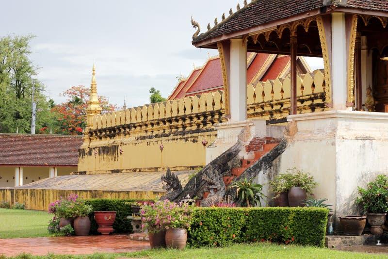 Буддийский висок Лаос стоковые фото