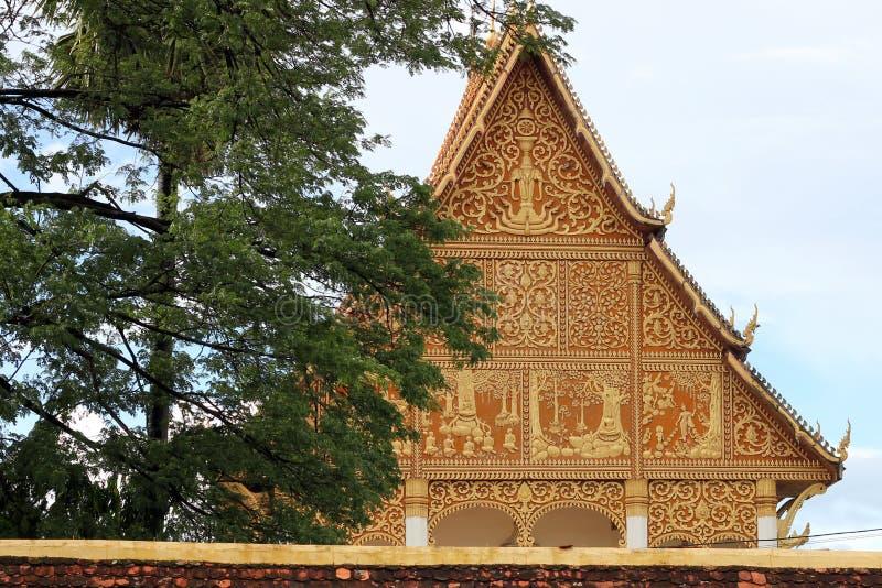 Буддийский висок Лаос стоковые изображения