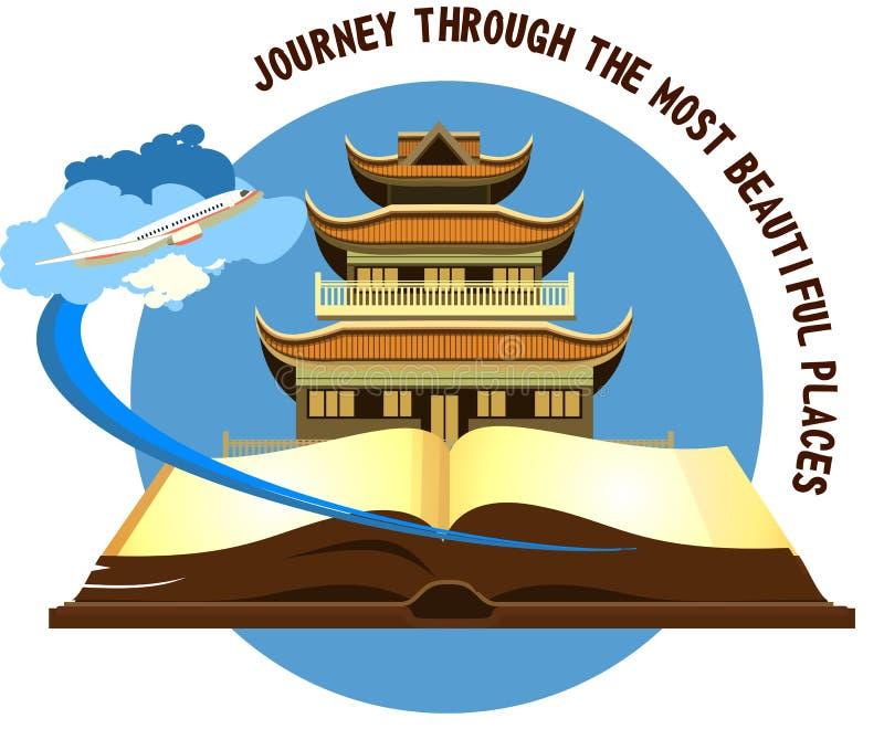 Буддийский висок старый бесплатная иллюстрация