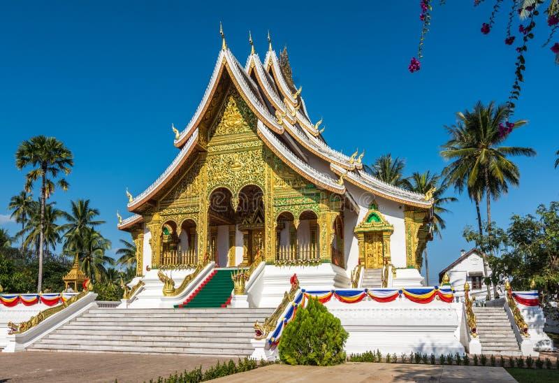 буддийский висок prabang luang Лаоса стоковая фотография rf