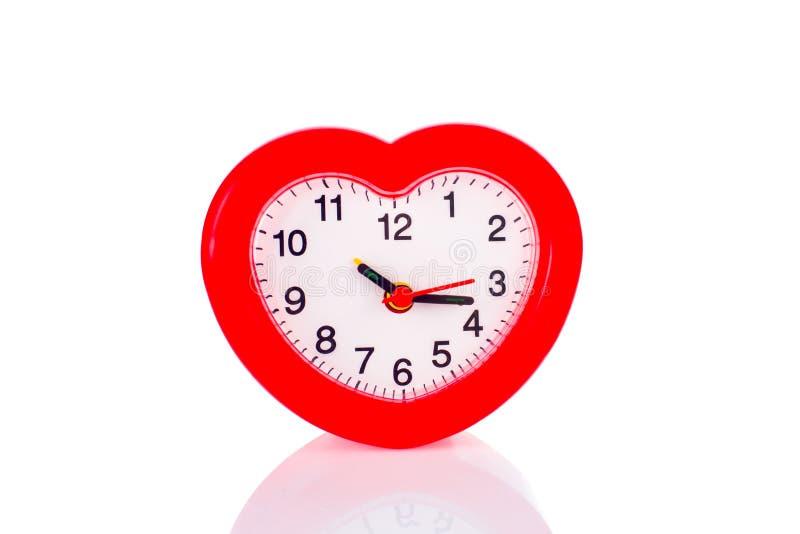 Будильник с формой сердца стоковое изображение rf