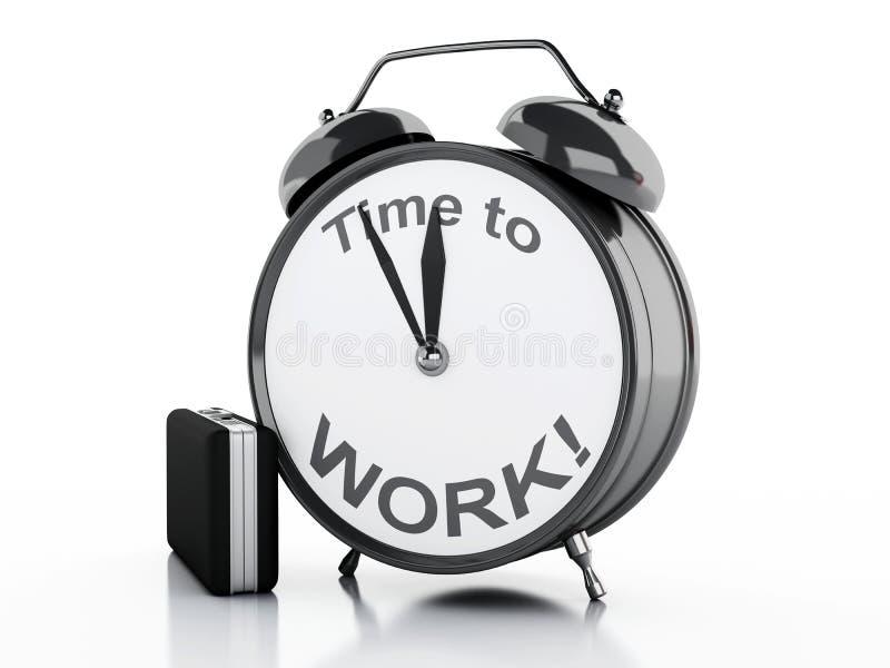 будильник 3d с временем слов работать на своей стороне бесплатная иллюстрация