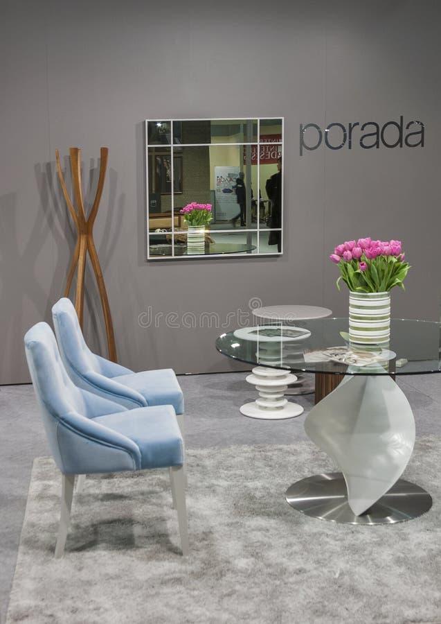 Будочка мебельной компании Porada итальянская стоковое изображение