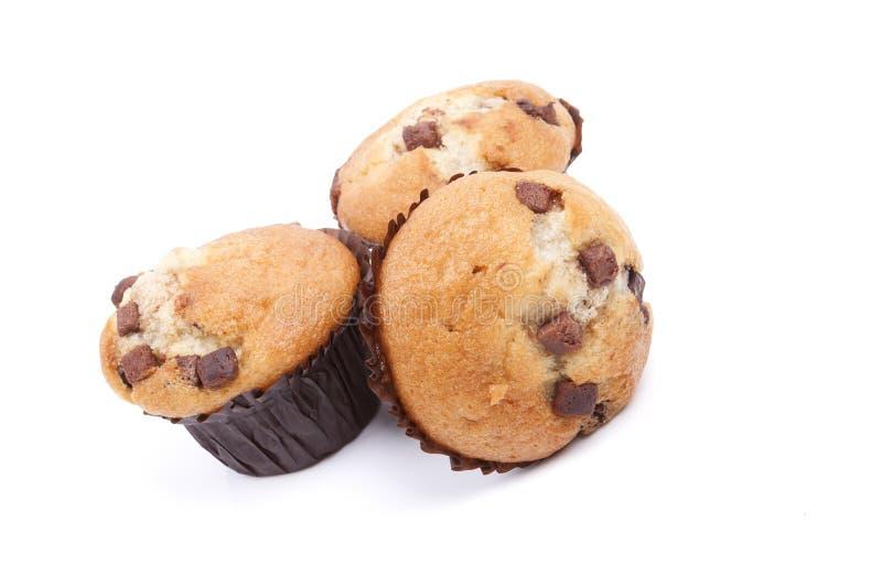 Download Булочка обломока шоколада 3 на белой предпосылке Стоковое Изображение - изображение насчитывающей пирожне, сладостно: 41658455