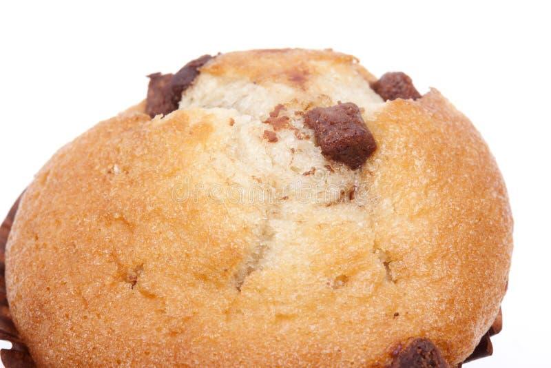 Download Булочка обломока шоколада на белой предпосылке Стоковое Изображение - изображение насчитывающей завтраки, bakersfield: 41658531