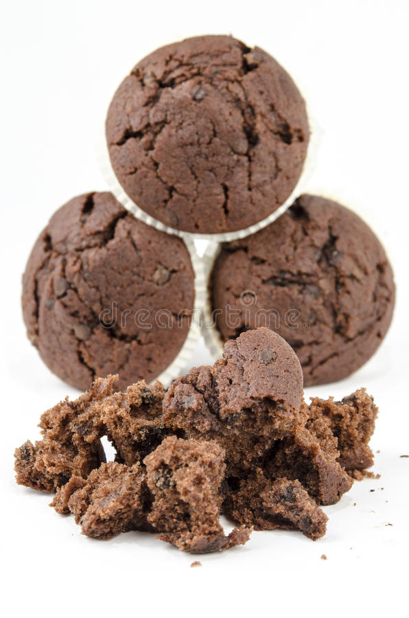 Булочки и мякиши шоколада стоковые изображения rf