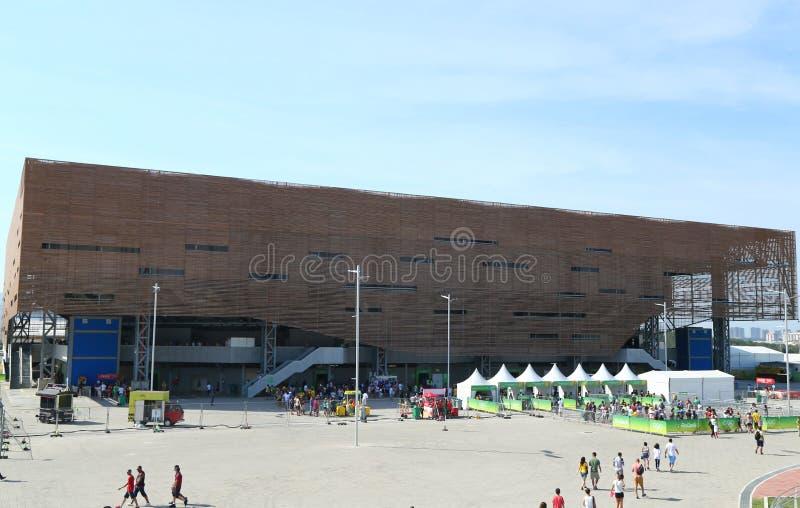 Будущая арена или арена делают Futuro на олимпийском парке в Рио-де-Жанейро стоковое изображение rf