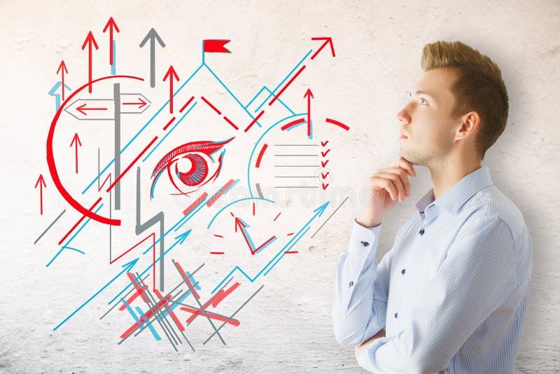 Будущая принципиальная схема стоковые изображения rf