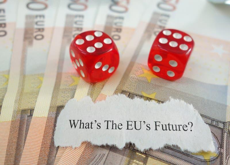Будущее EC неуверенное стоковые изображения rf