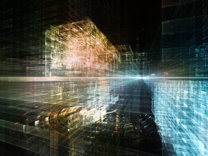 Будущий город стоковое фото