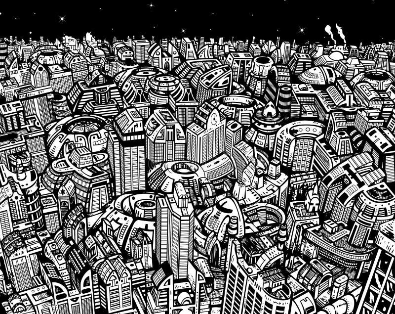 Будущий город бесплатная иллюстрация