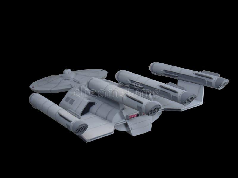 Будущий космический корабль научной фантастики стоковое изображение rf