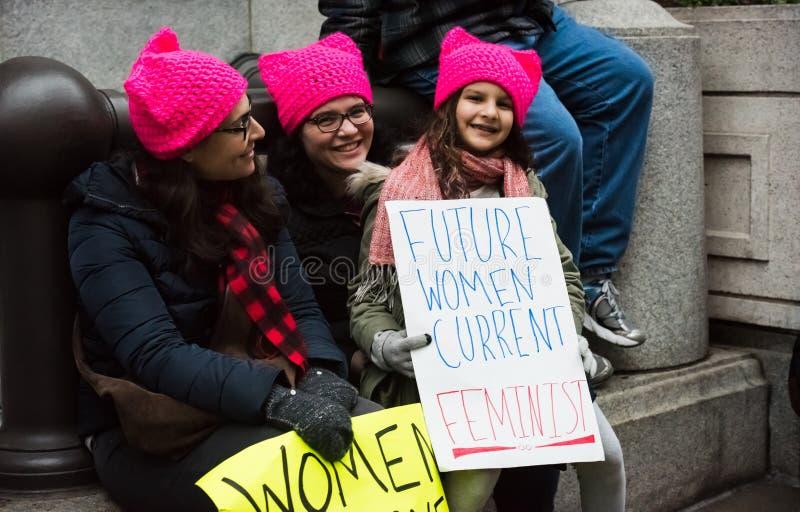 Будущий феминист - DC в марте - Вашингтоне женщин стоковое фото rf