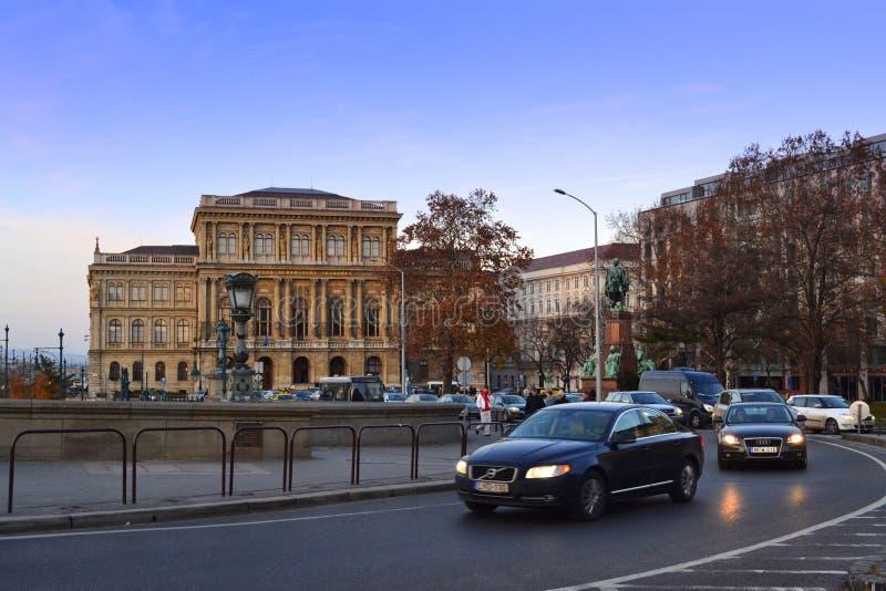 Бульвар Будапешта стоковое изображение rf