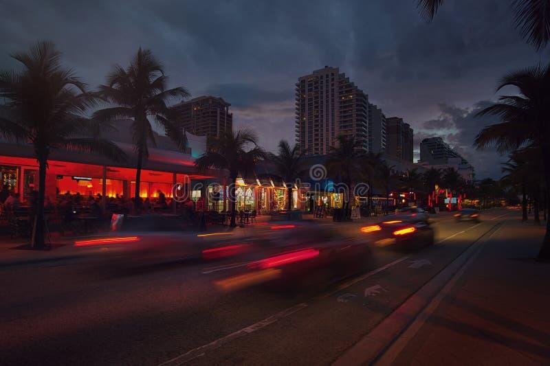 Бульвар пляжа Fort Lauderdale стоковая фотография
