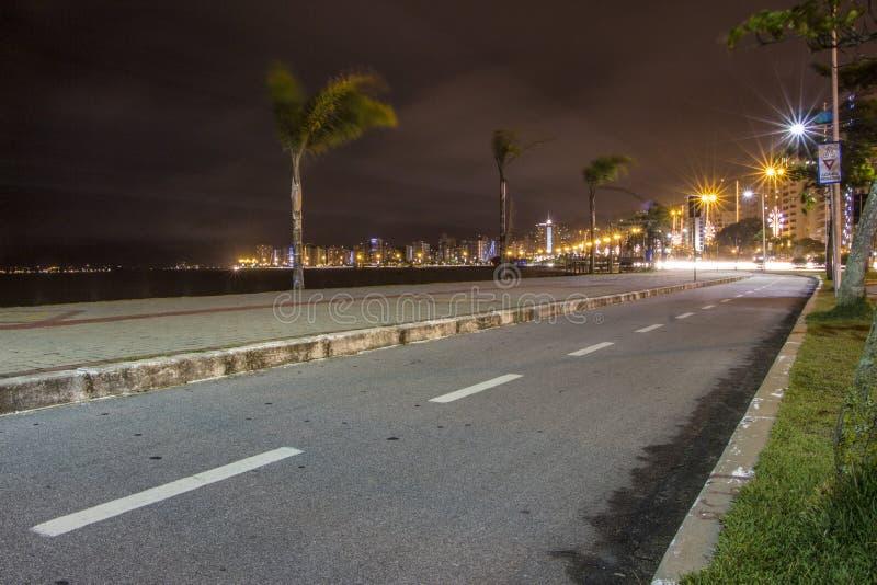 Бульвар Beira mar - Florianopolis - SC - Бразилия стоковые изображения rf