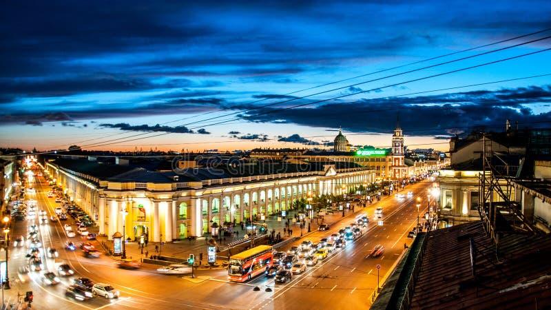 Бульвар Nevsky стоковые изображения rf