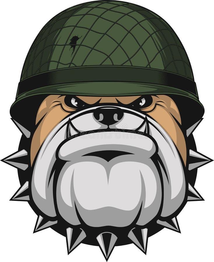 Бульдог в шлеме ` s солдата бесплатная иллюстрация
