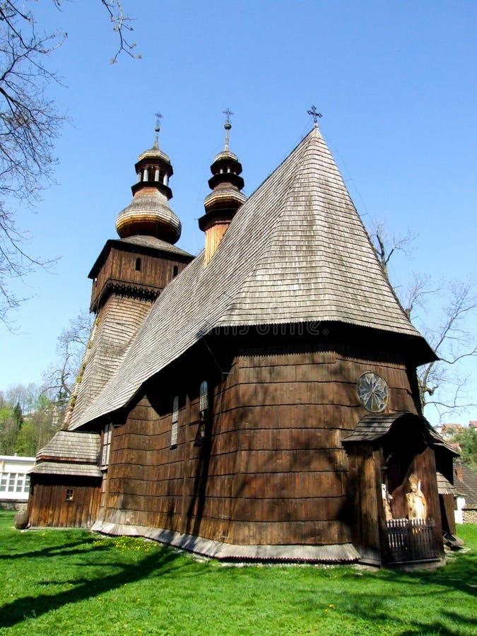 Бывшая деревянная церковь Mary Magdalene в ³ j Rabka-Zdrà в Польше стоковые фотографии rf