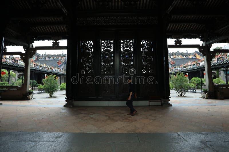 Бывшая резиденция клыка 6 Chen - историческая достопримечательность Гуанчжоу - Гуандун - Китай стоковое изображение