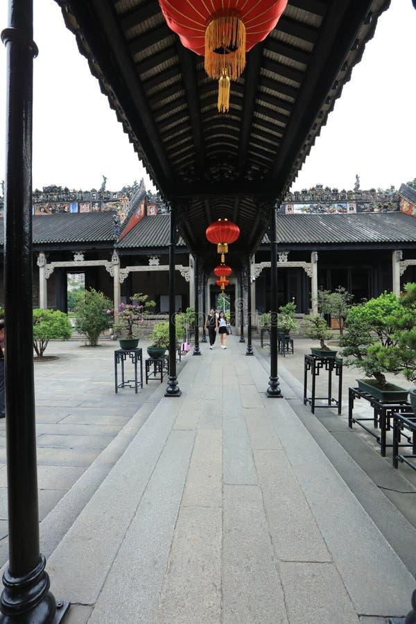 Бывшая резиденция клыка 17 Chen - историческая достопримечательность Гуанчжоу - Гуандун - Китай стоковые фотографии rf