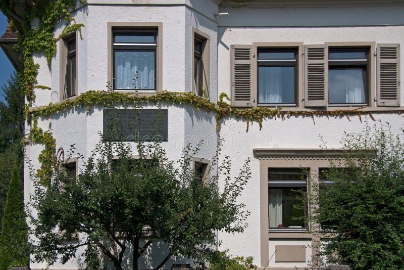 Бывшая резиденция Анны Франка в Франкфурте-на-Майне стоковая фотография