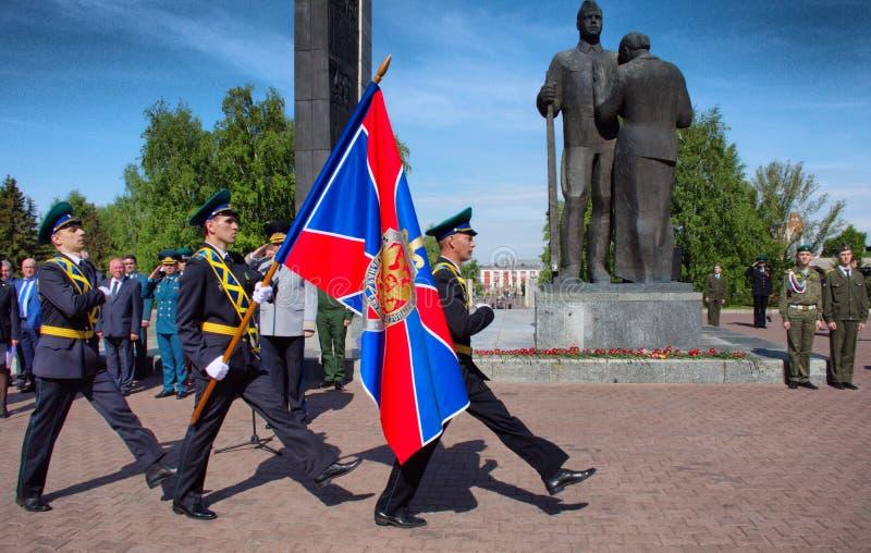 Бывшие солдаты празднуя день пограничника стоковые фотографии rf