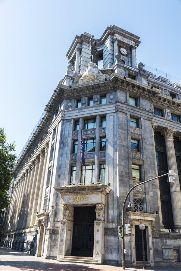 Бывшие штабы BBVA, Испания стоковое изображение rf