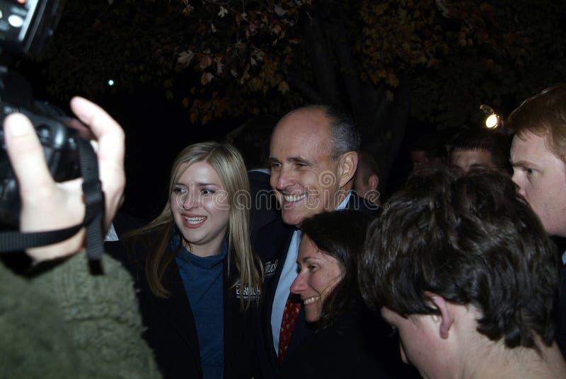Бывший мэр Rudy Giuliani и настоящий юрист Нью-Йорка козыря в Glendale, md стоковое изображение rf